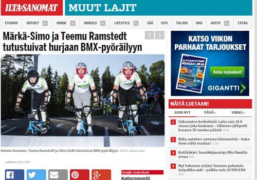 Märkä-Simo ja Teemu Ramstedt tutustuivat hurjaan BMX-pyöräilyyn