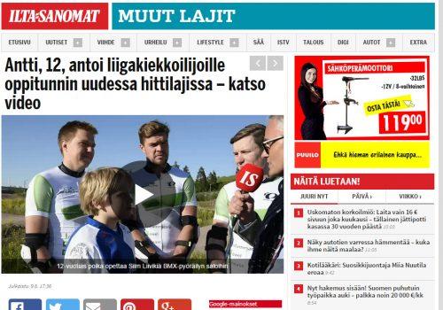 Antti, 12, antoi liigakiekkoilijoille oppitunnin uudessa hittilajissa